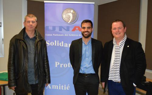 Gilles BRAUD - Maxime AUBRY (Co-Présidents) et Thomas BIZEUL (Président UNAF Bretagne)