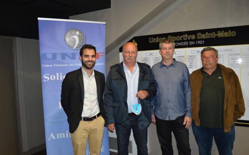 Maxime AUBRY (Co-Pdt UNAF 35) - Mr MONTREUIL (USSM) - Gilles BRAUD (Co-Pdt UNAF 35) - Mr COSNEFROY (USSM)